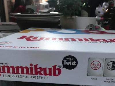 Close-up of box Rummikub with a Twist