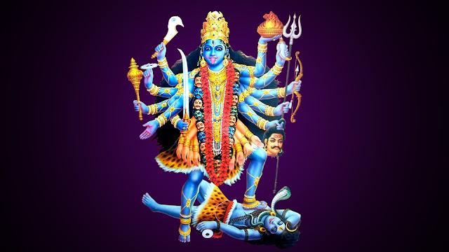 Maa Kali & Lord Shiva  Wallpaper