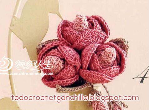 rosas crochet con patrones
