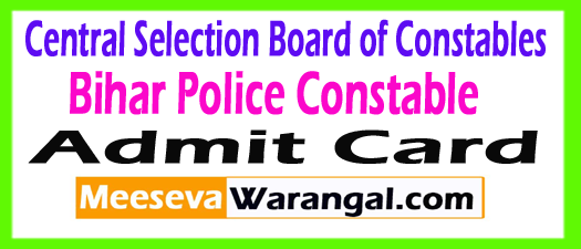 Bihar Police Constable Admit Card 2017 Download