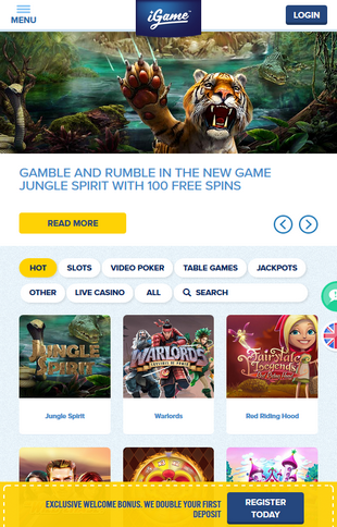 iGame Casino Games Screen