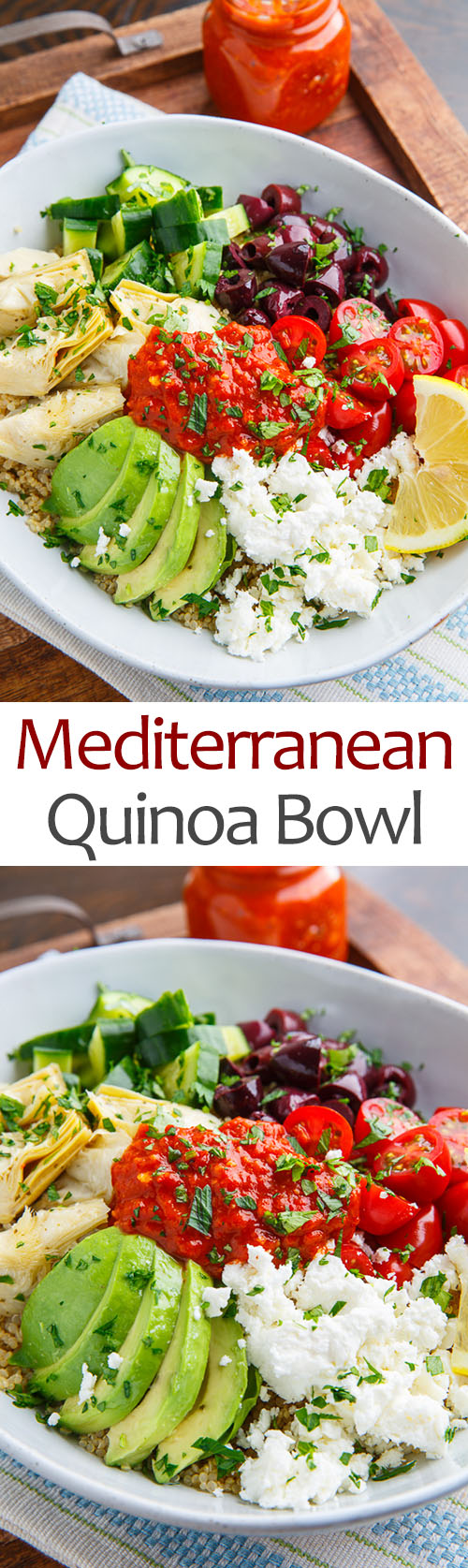 Mediterranean Quinoa Bowls with Romesco Sauce on Closet Cooking