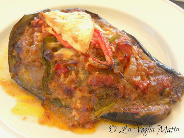 melanzana ripiena del ristorante Avra a Kioni, isola di Itaca