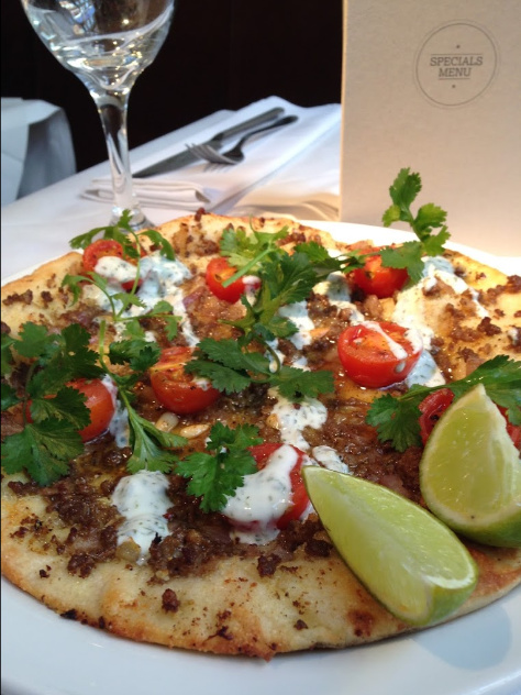 Typical pizza from Croma