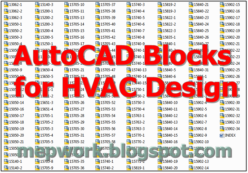Download Free AutoCAD Blocks for HVAC Design | Hvac Drawing Symbols Free |  | MEP WORK