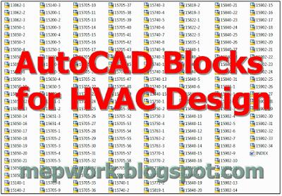 AutoCAD, AutoCAD MEP, Blocks, dwg, HVAC,