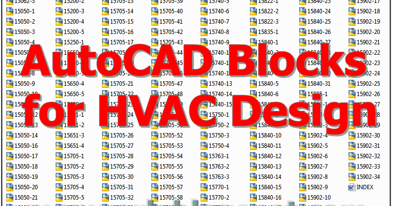 Download Free AutoCAD Blocks for HVAC Design | Hvac Drawing Dwg Download |  | MEP WORK