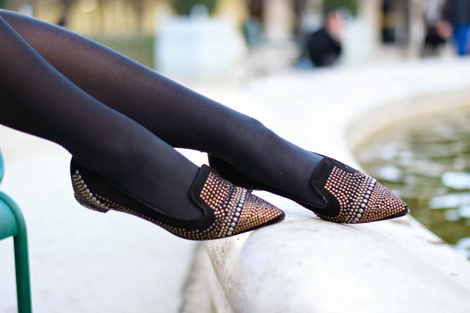 平底尖头乐福鞋