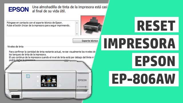 resetear almohadillas impresora Epson EP806AW