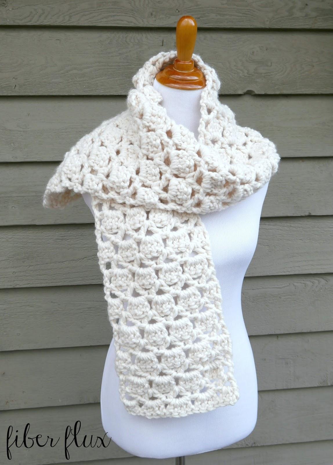 Fiber Flux Free Crochet Pattern Sugar Cookie Scarf