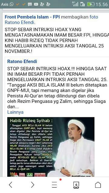 klarifikasi untuk aksi bela islam 25 november