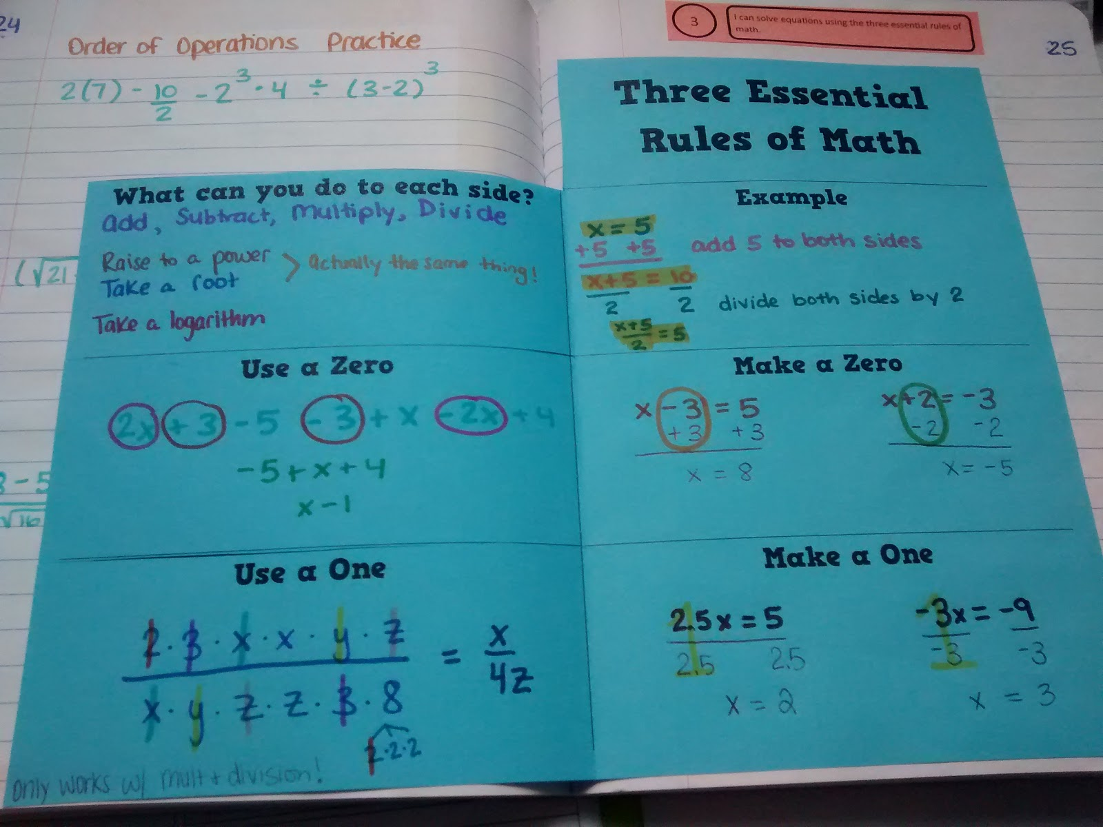 Math Love Solving Equations Using The Three Essential