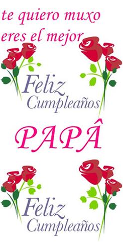 tarjeta feliz cumpleaños papa