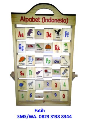 Mainan Kayu Alphabet Berdiri