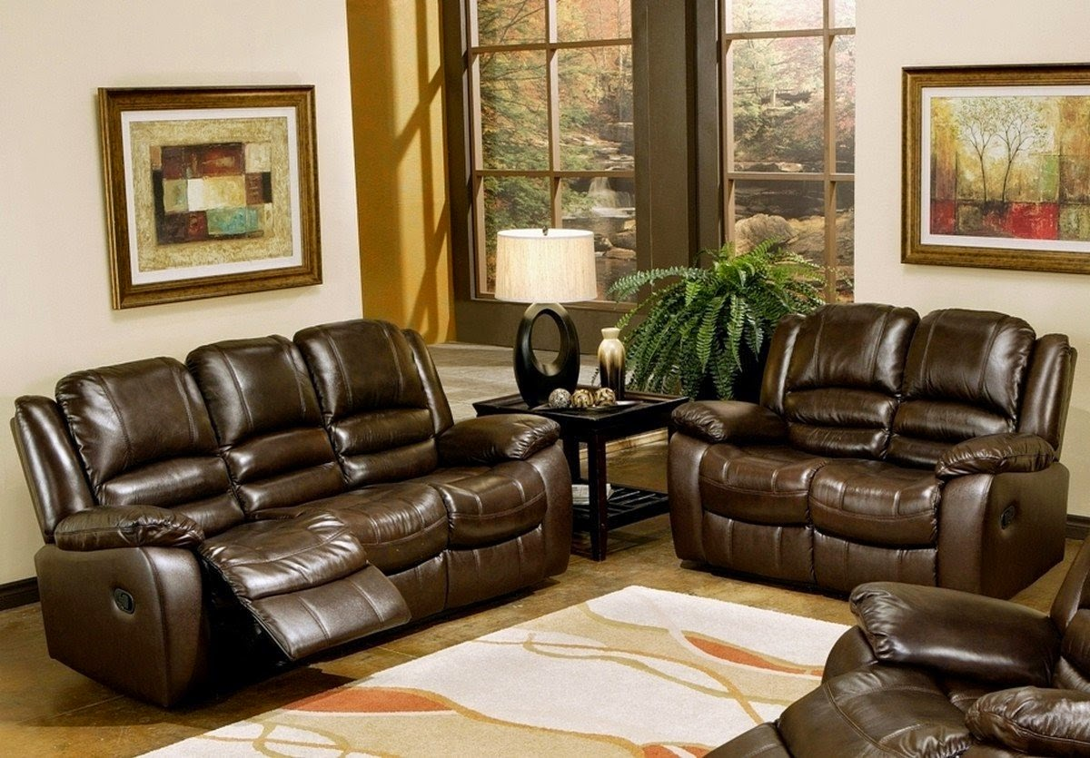 Italian Leather Recliner Sofa Set