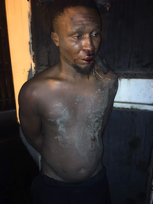 Man caught while vandalising  generator in a bank premise in Lagos