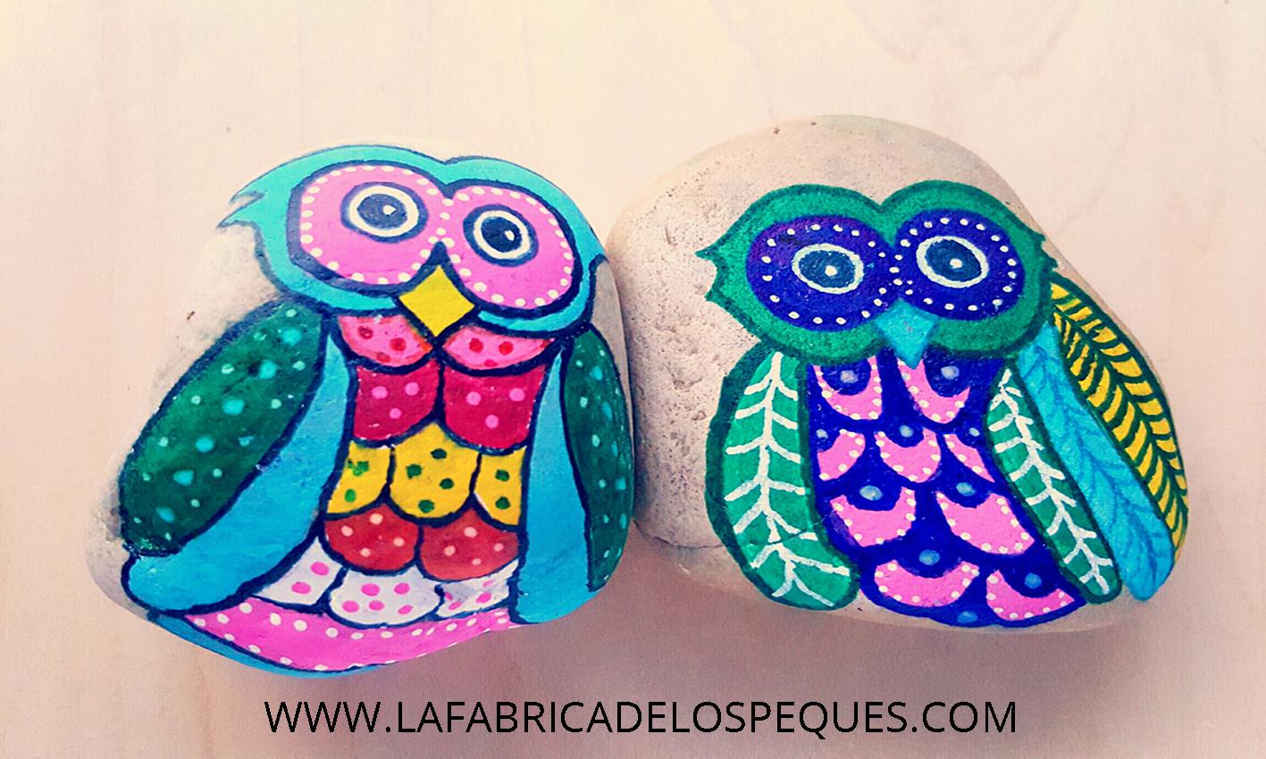 Piedras Pintadas A Mano La Fabrica De Los Peques - Dibujos-para-pintar-piedras