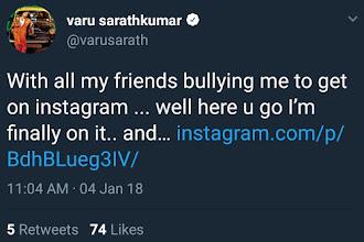 Varalakshmi Sarathkumar Gets 7K insta followers in 40 minutes
