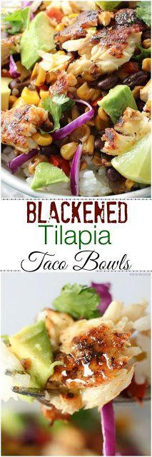 Blackened Tilapia Taco Bowls