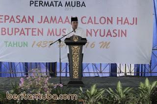 Melepas Jemaah Haji, Beni Titip Doa