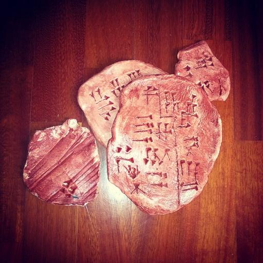 scrittura cuneiforme per bambini