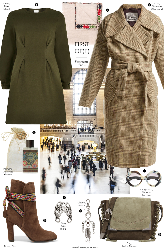 Spring casual daywear outfit inspiration, Etro, Isabel Marant, Prada, Vivienne Westwood designer sale fashion clothes and accessories