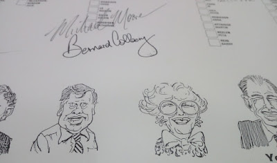First ACT Election Ballot Paper with caricatures by Geoff Pryor and signed by some of the Candidates