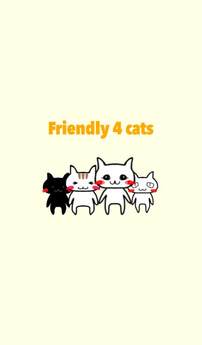Friendly 4 cats Theme version