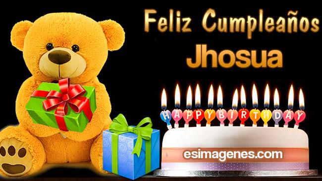 Feliz cumpleaños Jhosua