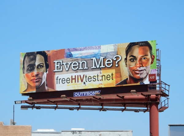 Even Me Free HIV Test billboard