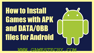 install apk data obb file on android
