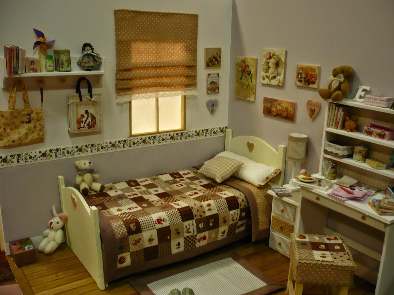 Muebles y complementos en escala 1 6 en beig diorama for Muebles y complementos