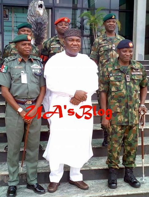 Buratai lauds Ugwuanyi's support for Military