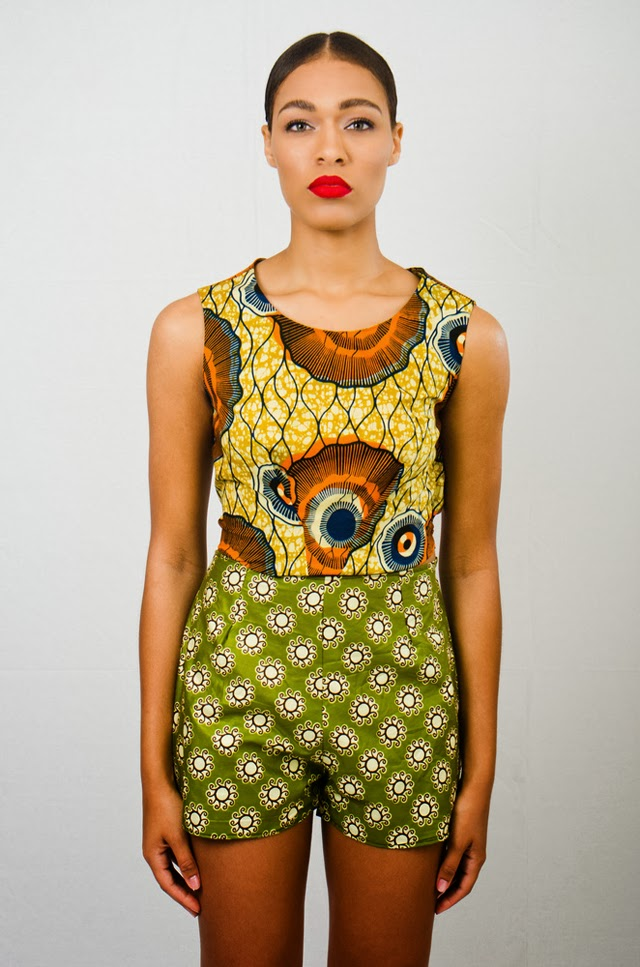 Gorgeous print on print look by Asiyami Gold