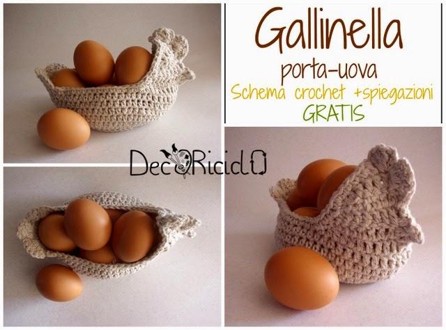 Decoriciclo Gallinella Porta Uova All Uncinetto Con Schema E