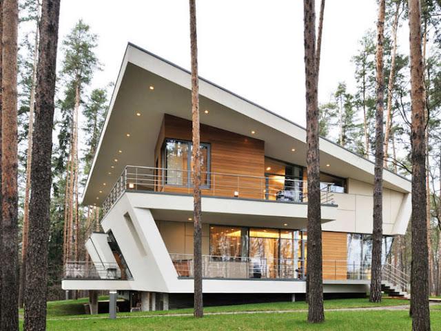 rumah minimalis geometris