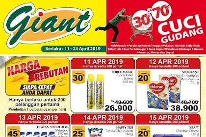Katalog Promo Giant Weekday Terbaru 22 - 24 April 2019