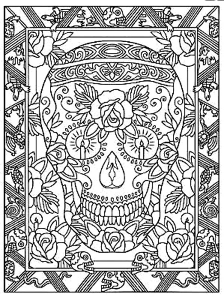 Pinto Dibujos Calavera mandala
