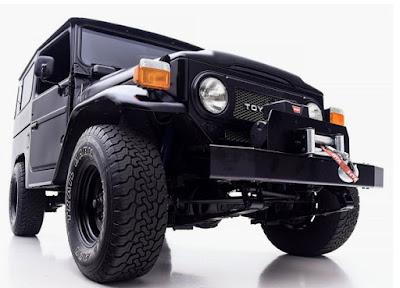 Black Toyota FJ40 Jeep Version of World War 2