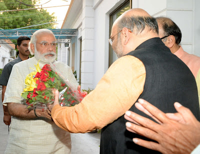 Historical moment for BJP: PM Narendra Modi with Amit Shah