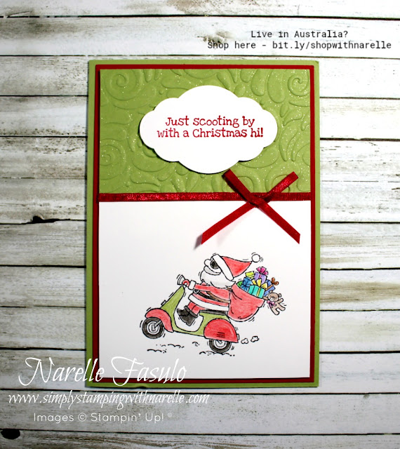Looking for something different for your Christmas Cards this year? Then check out the whimsy So Santa stamp set - https://www3.stampinup.com/ecweb/product/147824/so-santa-wood-mount-stamp-set?dbwsdemoid=4008228