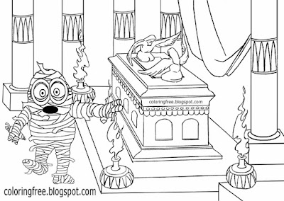 Printable minions despicable me Halloween coloring pages minion mummy monster drawing suggestions