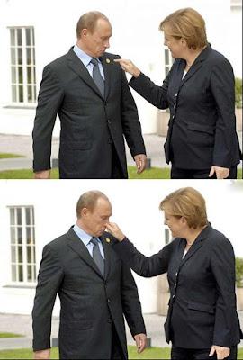 Lustige Bilder von Angela Merkel peinlich lachen
