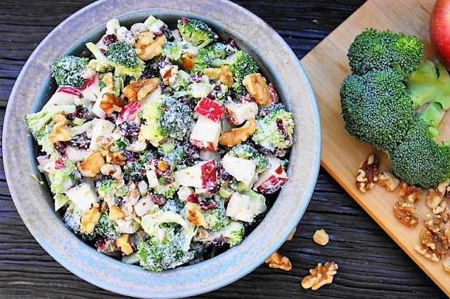 Fall Broccoli & Apple Salad with Walnuts Image