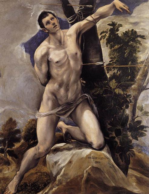 El Greco, El martirio de San Sebastián, 1577-78