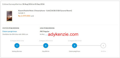 Beli Xiaomi Redmi Note 3 di Blibli.com Pembayaran via Indomaret