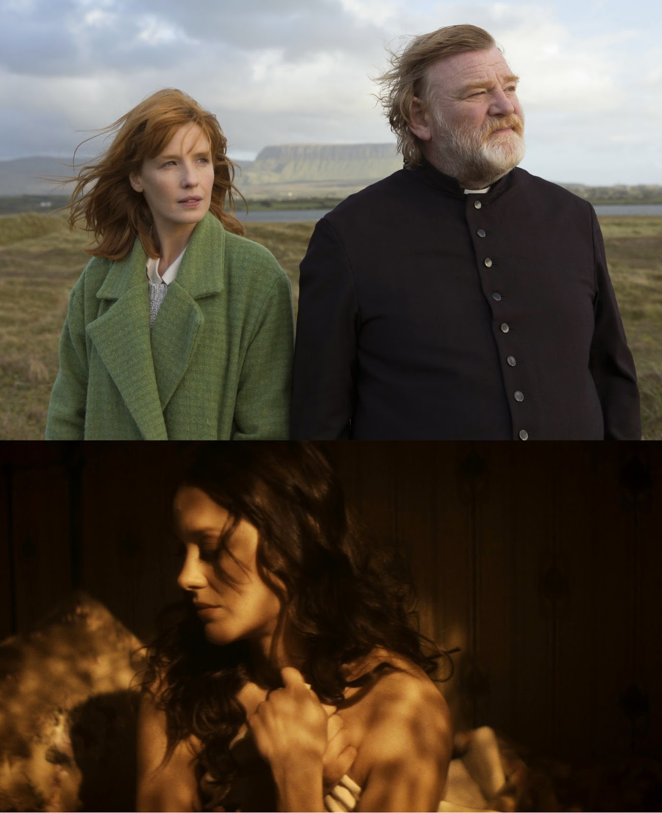 Kelly Rilley and Brendan Gleeson in Calvary and Marion Cotillard in The Immigrant