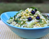 Corn & Cucumber Salad with Fresh Blueberries (A Veggie Venture)