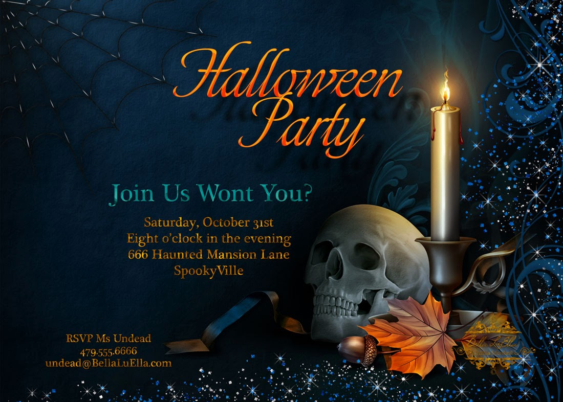 Bella LuElla: Halloween Party Invitations