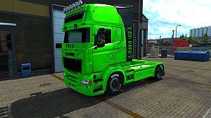 HULK paint job for Scania RJL